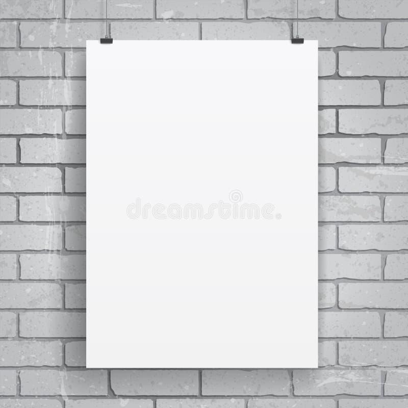 Plakat des leeren Papiers lizenzfreie abbildung