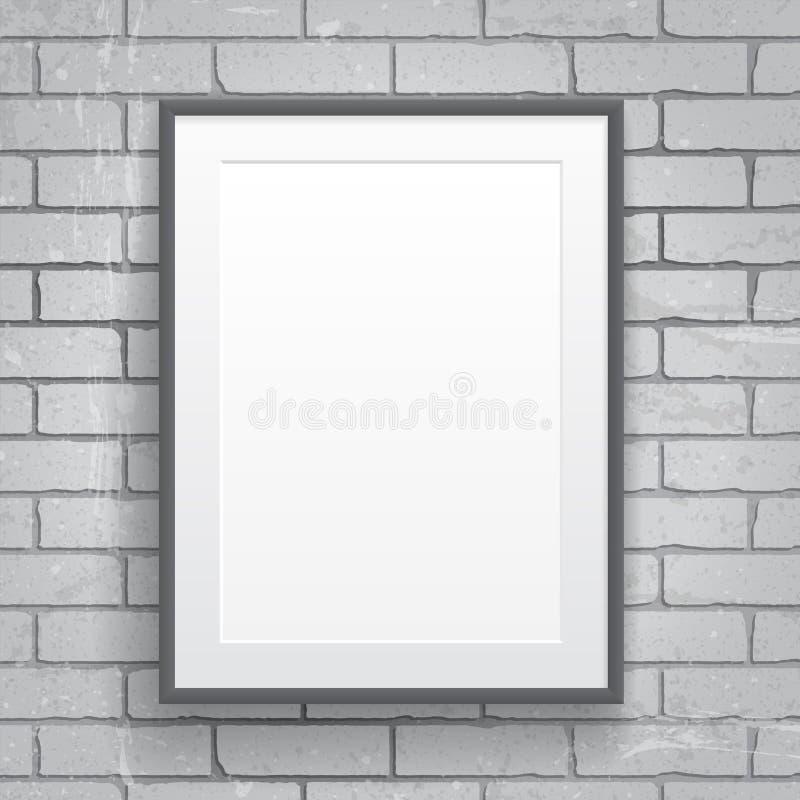 Plakat des leeren Papiers mit Rahmen stock abbildung