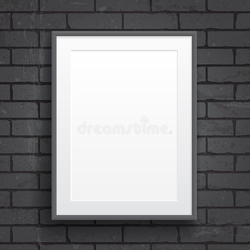 Plakat des leeren Papiers mit Rahmen lizenzfreie abbildung