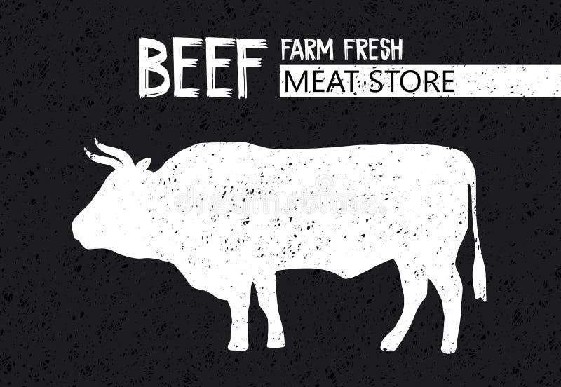 Plakat dla Butchery mięsnego sklepu ilustracja wektor
