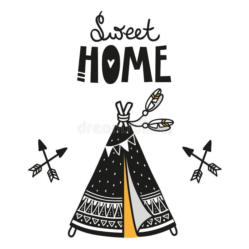 Plakat dla dzieciaka pokoju, kartka z pozdrowieniami, druk na ścianie, poduszka, dekoracja żartuje wnętrze, dziecko odzież i kosz ilustracji