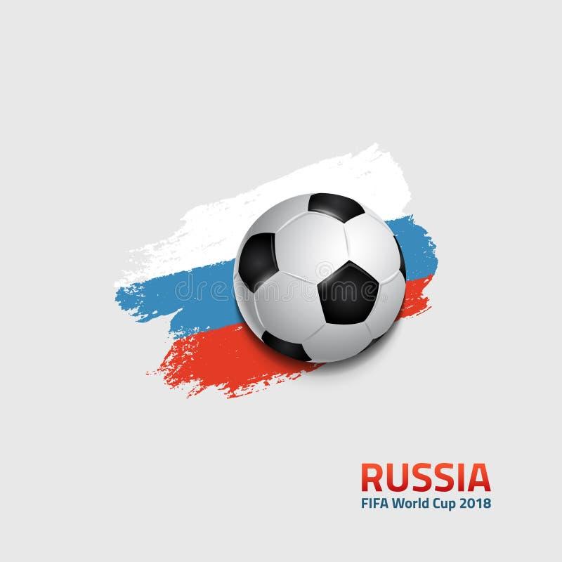 Plakat dla futbolowego światowego mistrzostwa w Rosja 2018 ilustracji