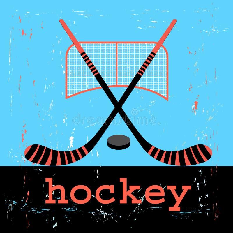 Plakat dla hokeja royalty ilustracja