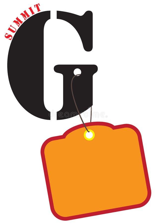 Plakat dla szczytu G ilustracja wektor
