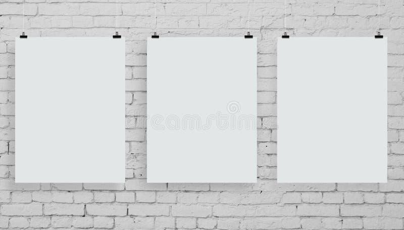 Plakat drei stockfotografie