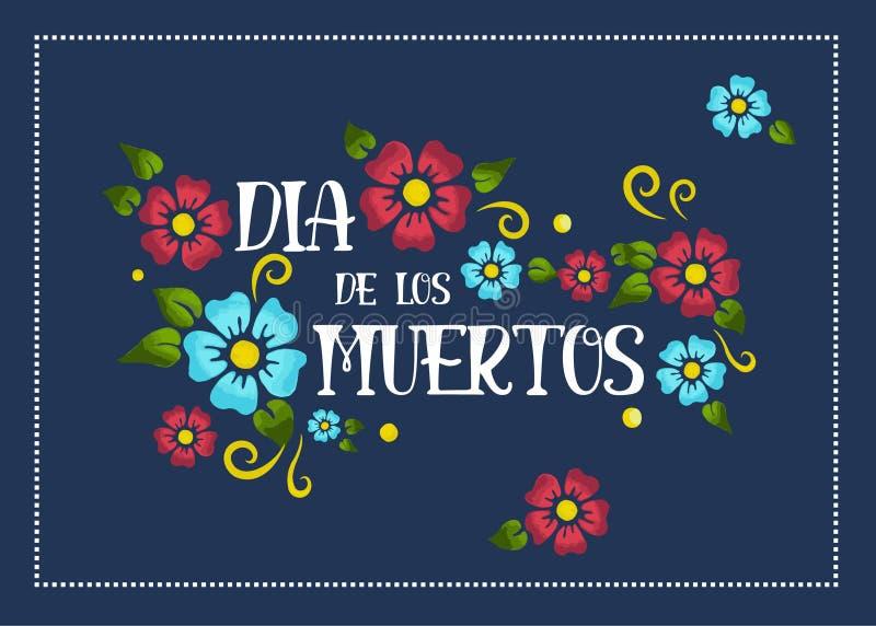 Plakat Durchmessers de Los Muertos stockbild