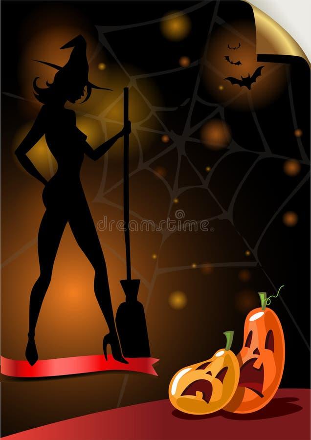 Plakat für Halloween-Partei lizenzfreie abbildung
