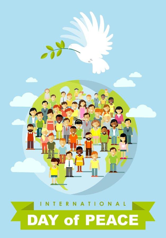 Plakat für internationalen Tag des Friedens stock abbildung