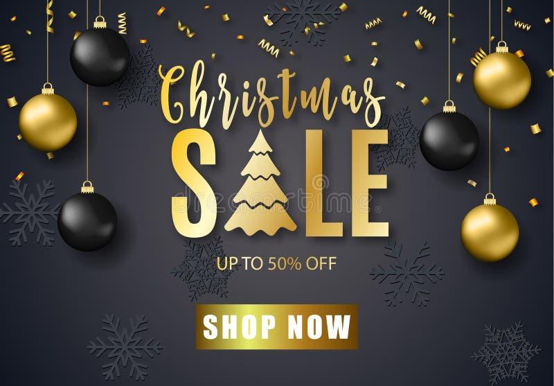 Plakat für Weihnachtsverkauf vektor abbildung