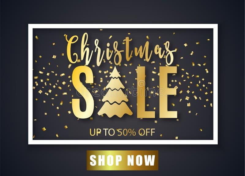 Plakat für Weihnachtsverkauf lizenzfreie abbildung