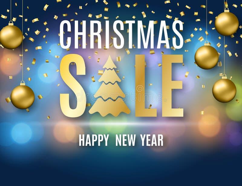 Plakat für Weihnachtsverkauf stock abbildung