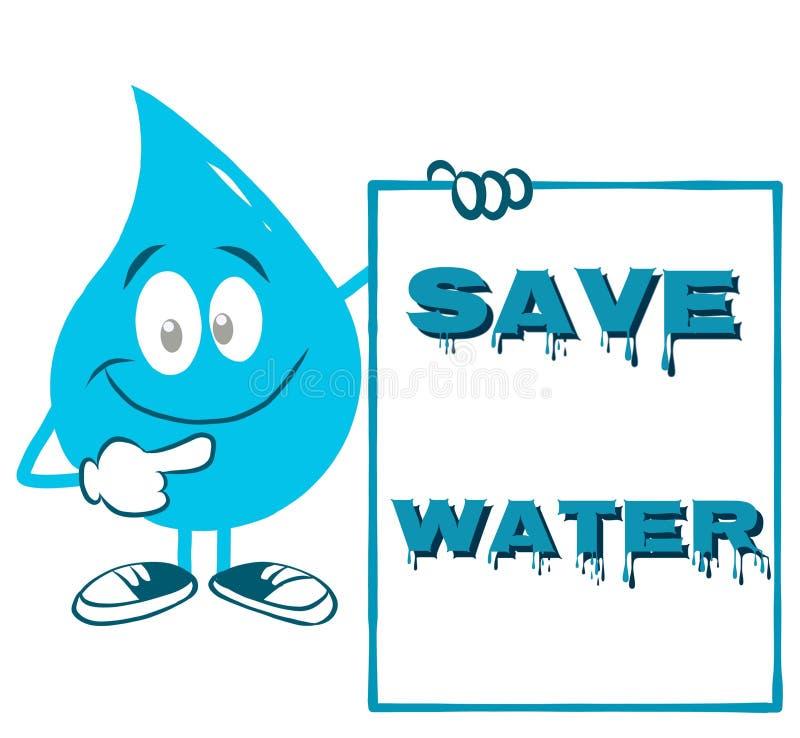 Plakat für Weltwasser-Tag vektor abbildung