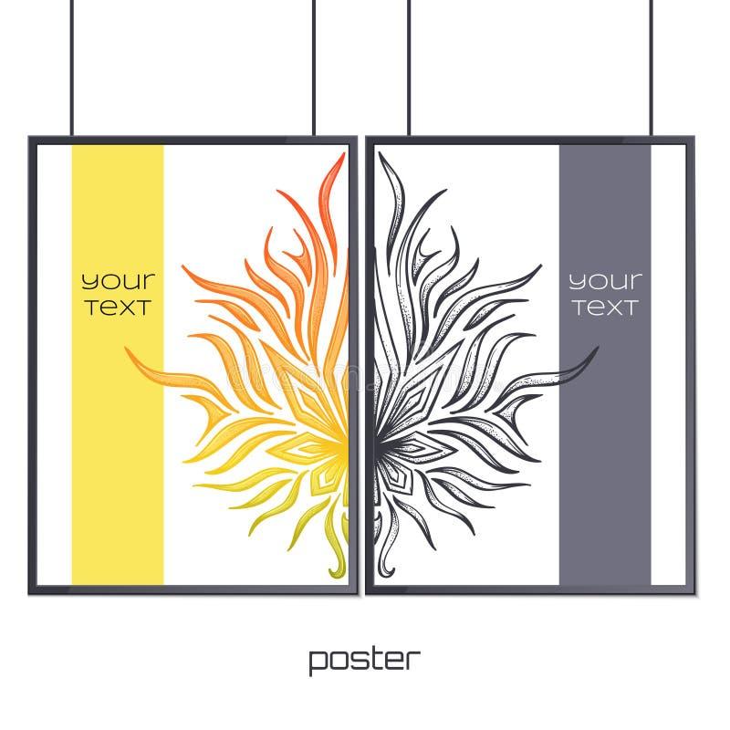 Plakat im Rahmen-Zusammenfassungs-Marihuana vektor abbildung