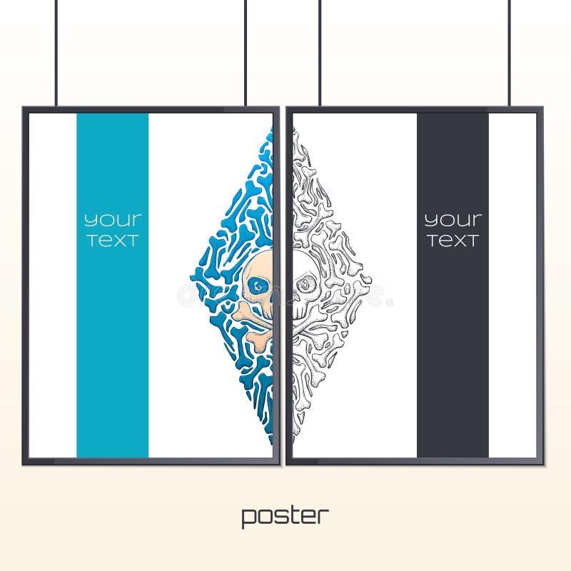 Plakat im Spant einer stock abbildung