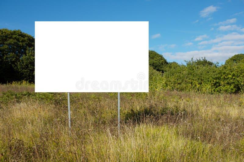 Plakat im Ziel stockfotografie