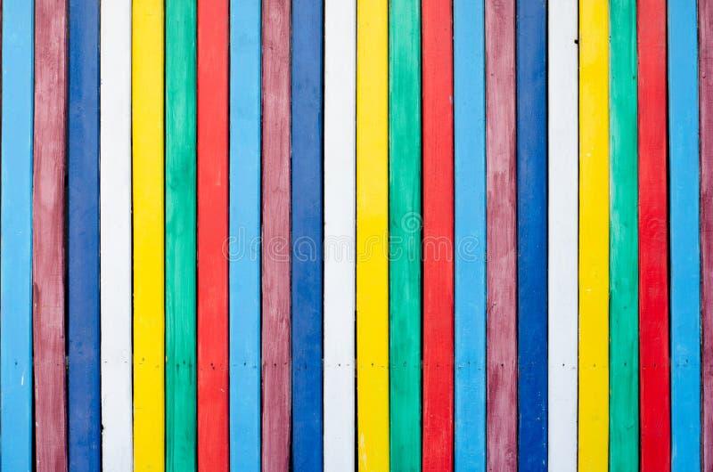 Plakat kolorowe drewniane deski jako tło obrazy royalty free