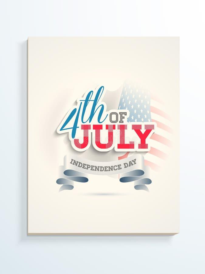 Download Plakat Lub Sztandar Dla Amerykańskiego Dnia Niepodległości świętowania Ilustracji - Ilustracja złożonej z kultura, flaga: 53778195