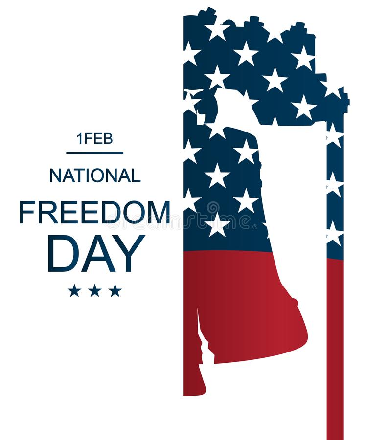 Plakat lub sztandary - na Krajowym wolność dniu! - Luty 1st ilustracja wektor