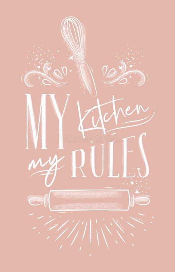 Plakat mój kuchni reguł menchie ilustracji