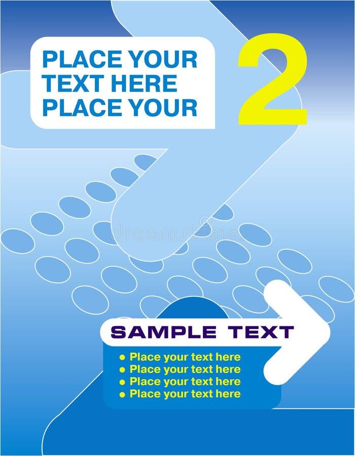 Plakat mit einer Nadelanzeige lizenzfreie abbildung