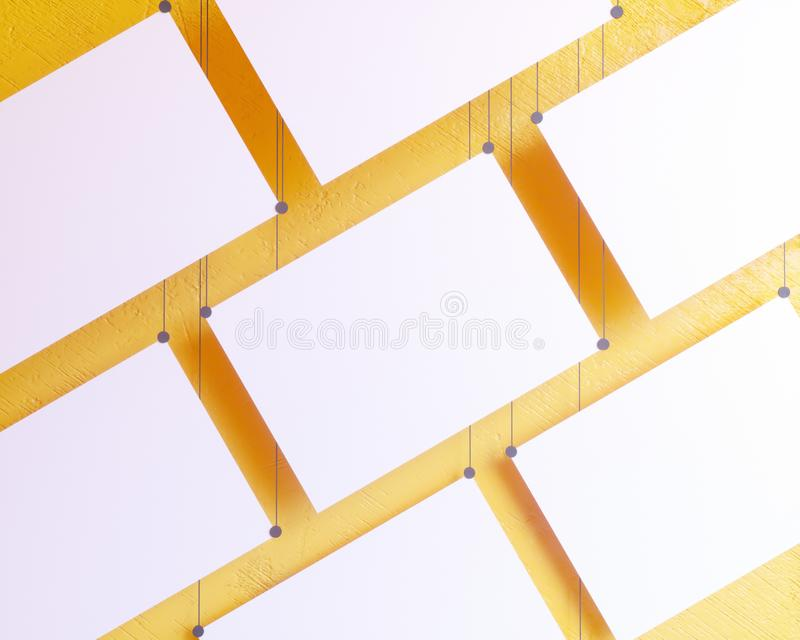 Plakat-Modell, Modell-Schablone auf lokalisiertem weißem Hintergrund, bereiten für Ihr Design, Illustration 3D vor vektor abbildung