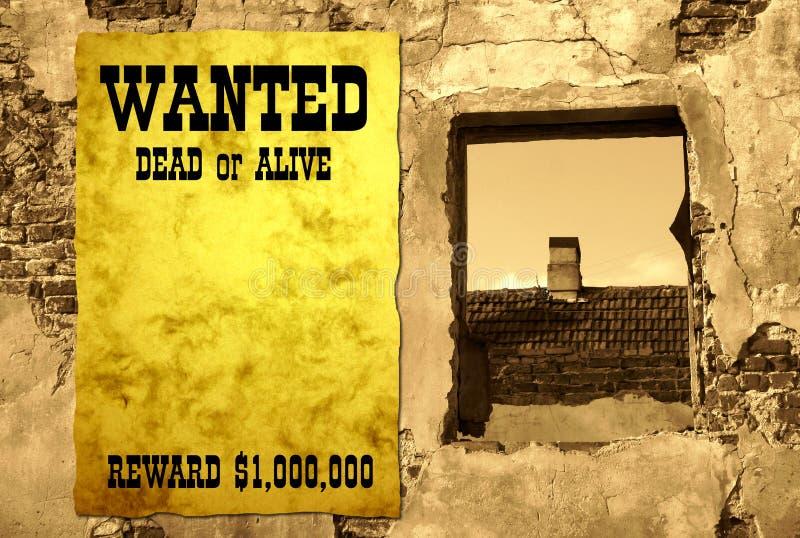 - plakat na zachód dziki obrazy stock