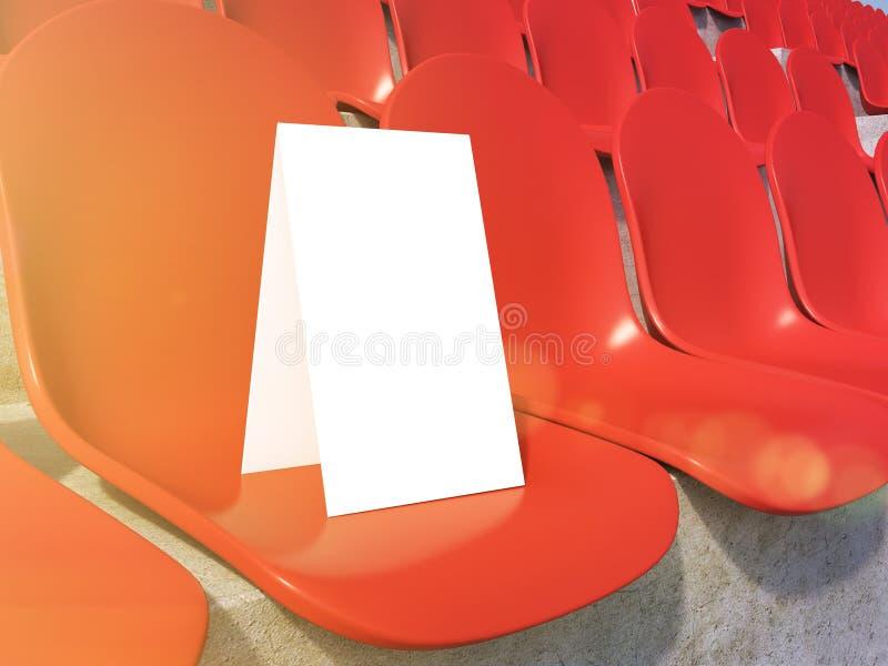 Plakat på stadion royaltyfri illustrationer