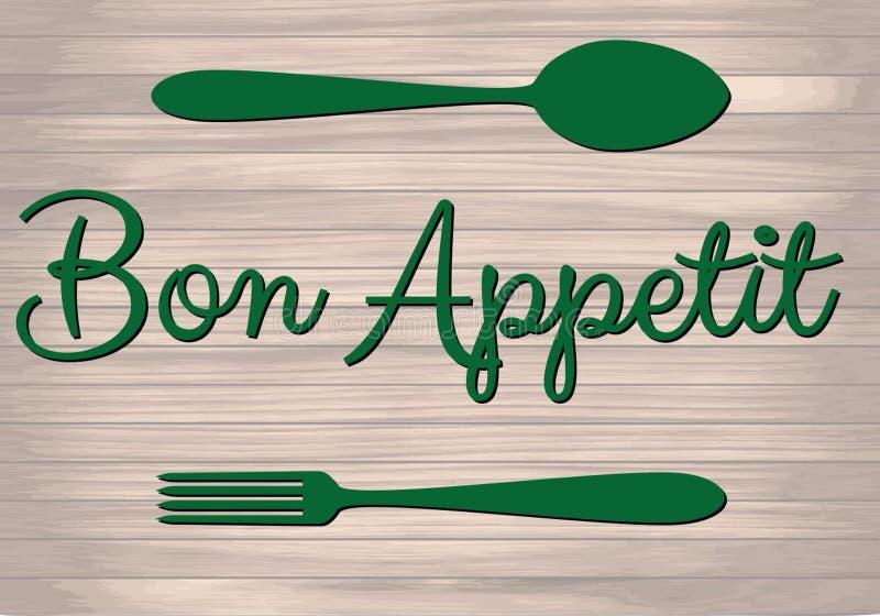 Plakat PrintBon Appetit stock abbildung