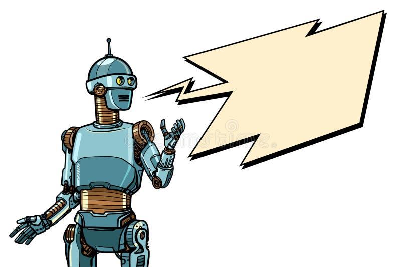 Plakat reklamowy Robot Cyber w poniedziałek royalty ilustracja
