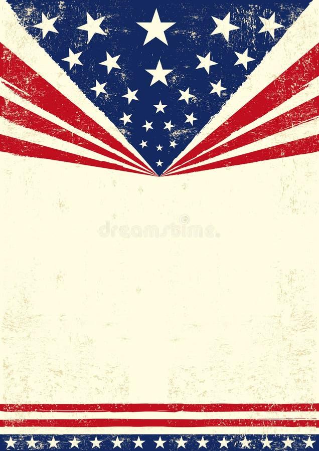 Plakat von Amerika lizenzfreie abbildung