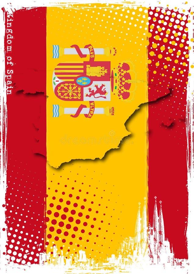 Plakat von Spanien lizenzfreie abbildung