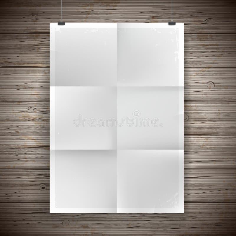 Plakat-Weinlesehintergrund des leeren Papiers vektor abbildung