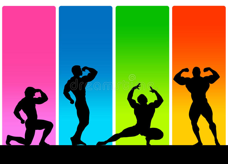 Bodybuilding plakat ilustracja wektor