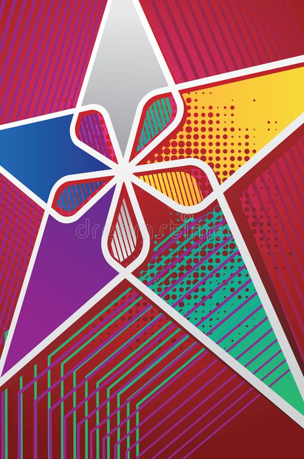 Plakat z kolorowymi gwiazdami zdjęcie stock