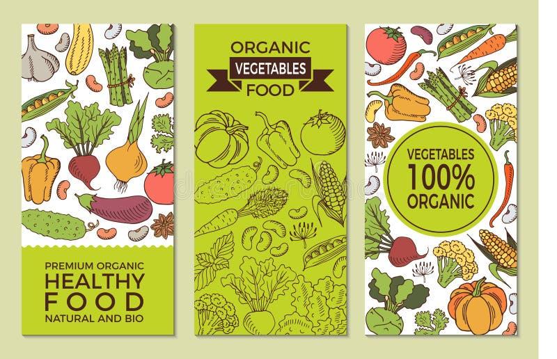 Plakat z warzywami royalty ilustracja