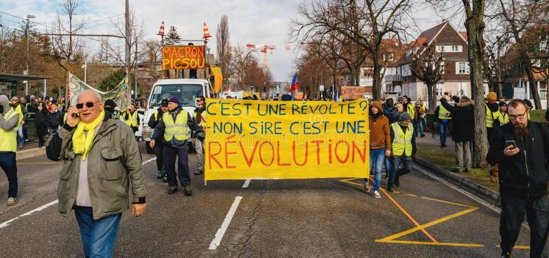 Plakat z wpisowym Macron Demission przy ? obraz royalty free