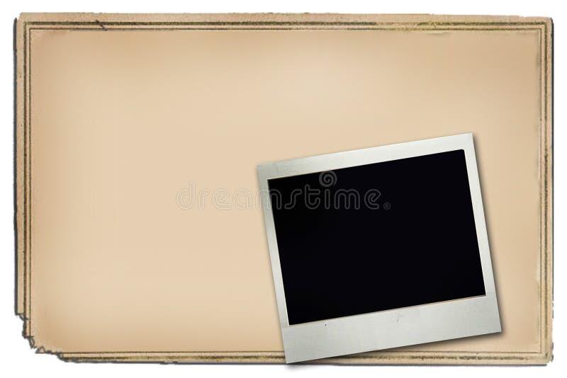 Plakatfeld und -polaroid lizenzfreie abbildung