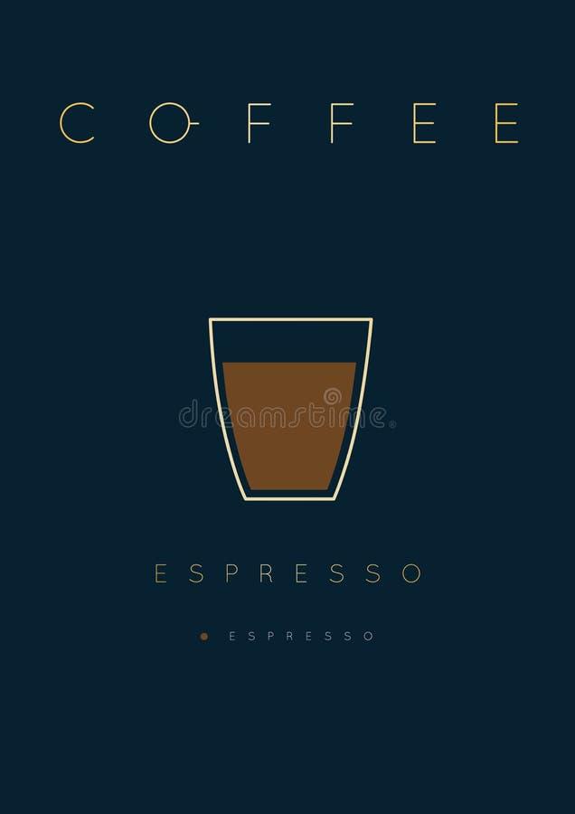 Plakatkaffeeespresso lizenzfreie abbildung