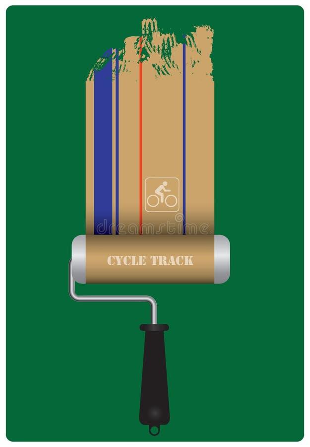Plakatowa budowa cyklu ślad ilustracji