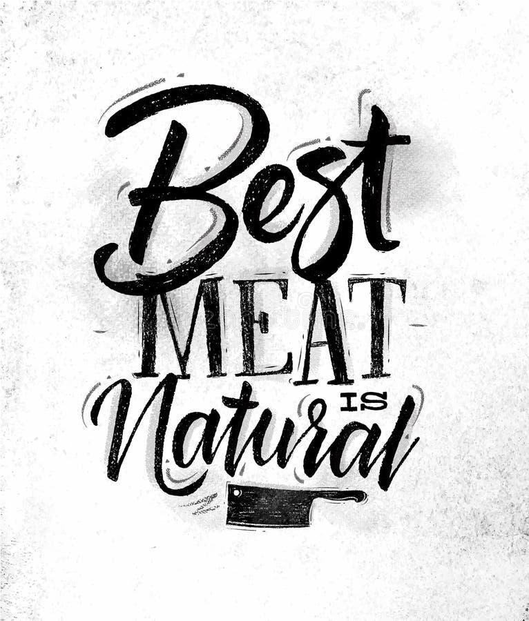 Plakatowy najlepszy mięso ilustracja wektor