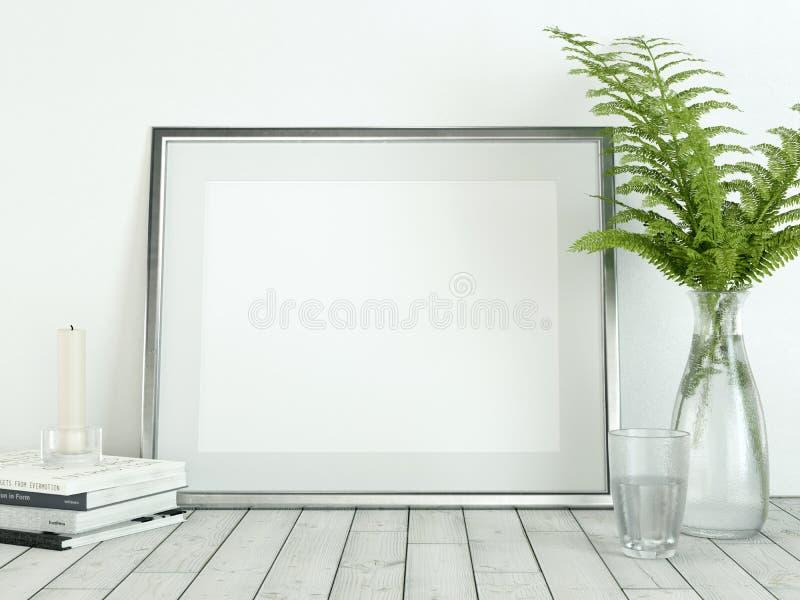 Plakatowy produktu projekta projektujący mockup Opróżnia ramowego mockup royalty ilustracja
