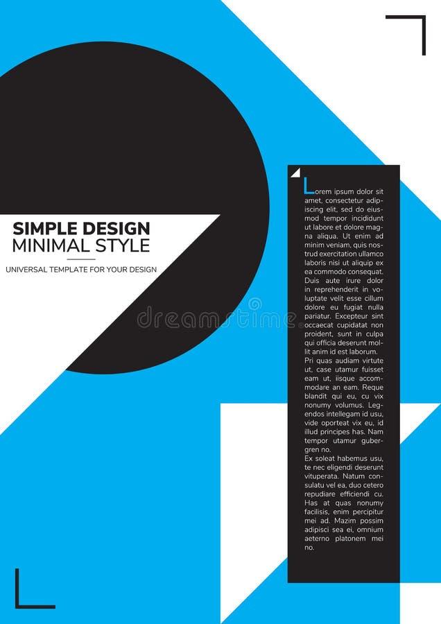 Plakatowy prosty projekt ilustracji