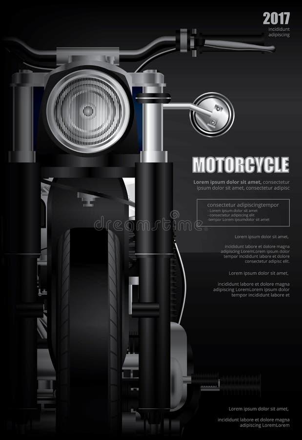 Plakatowy siekacza motocykl odizolowywający royalty ilustracja