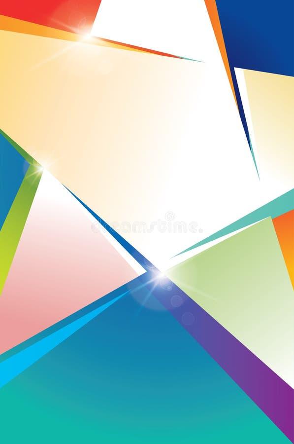 Plakatowy szablon z kolorowymi gwiazdami obraz royalty free