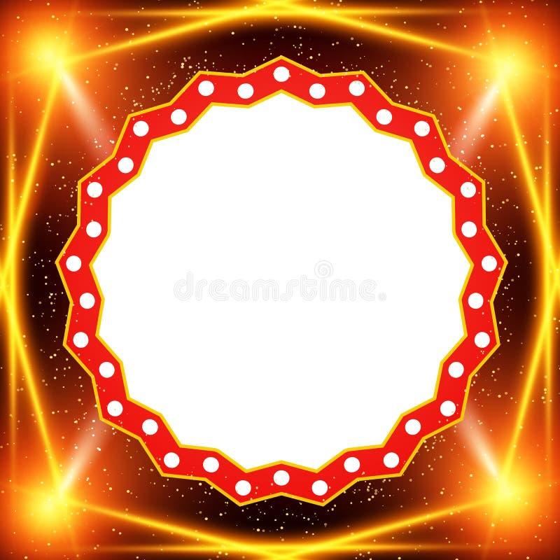 Plakatowy szablonu sztandar z światło reflektorów Projekt dla prezentaci, sztandar, koncert, przedstawienie ilustracja wektor