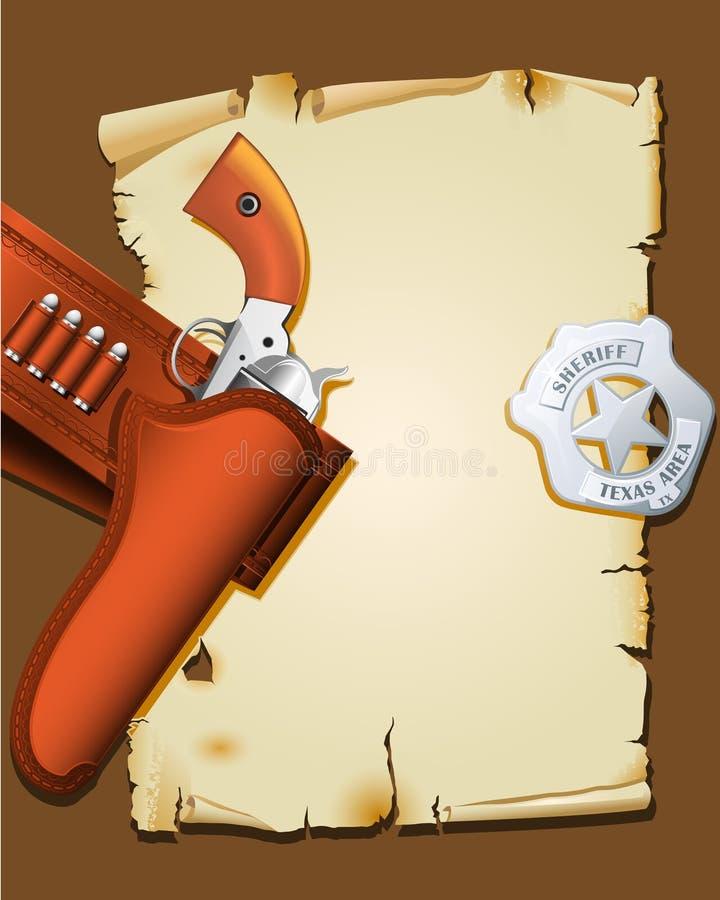 plakatowy zachodni dziki ilustracji