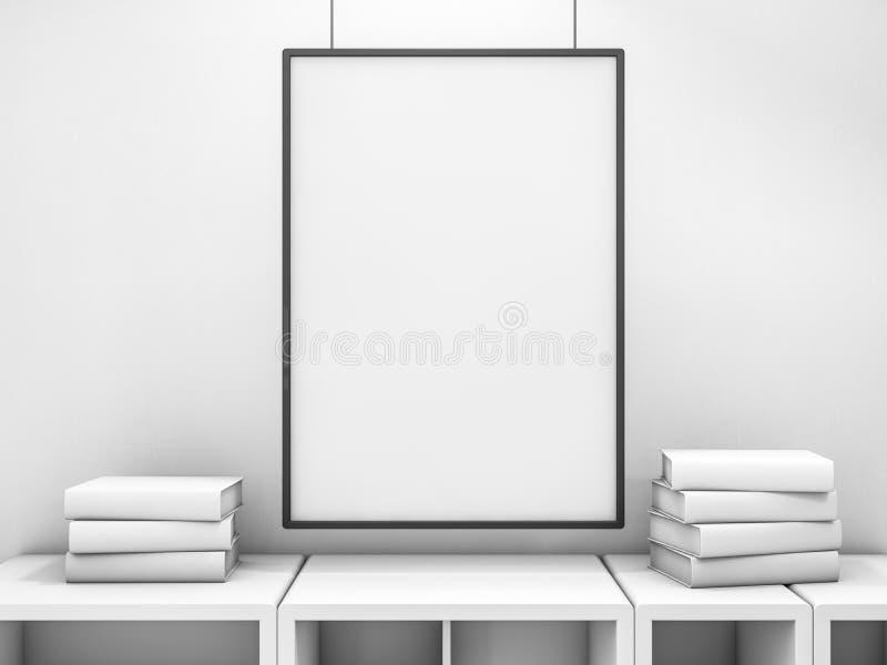 Plakatrahmenspott herauf Schablone 3d lizenzfreies stockbild