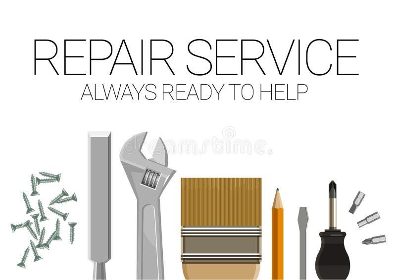 Plakatschablone für Hauptreparaturdienstleistungen vektor abbildung