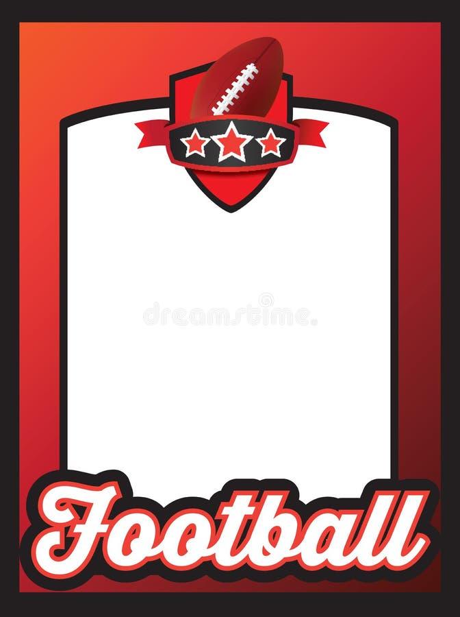 Plakatschablone für Team des amerikanischen Fußballs vektor abbildung