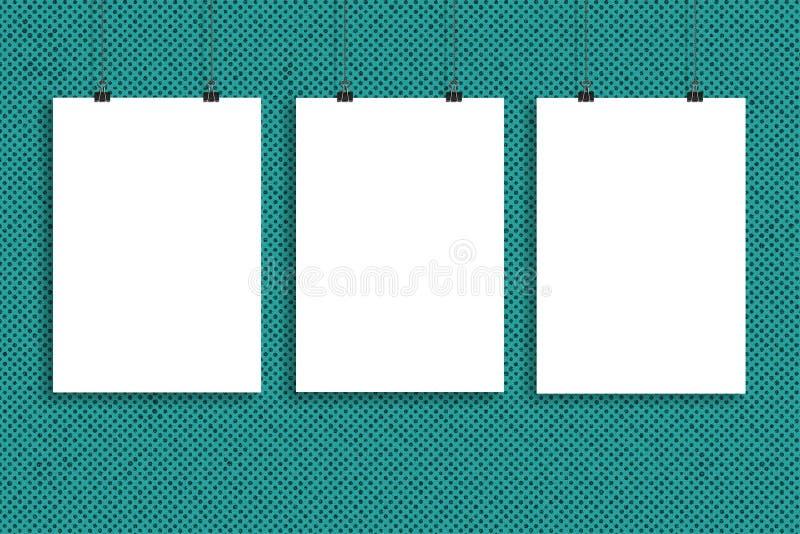 Plakatspott des Weißbuches drei oben, Wand-Spott oben vektor abbildung